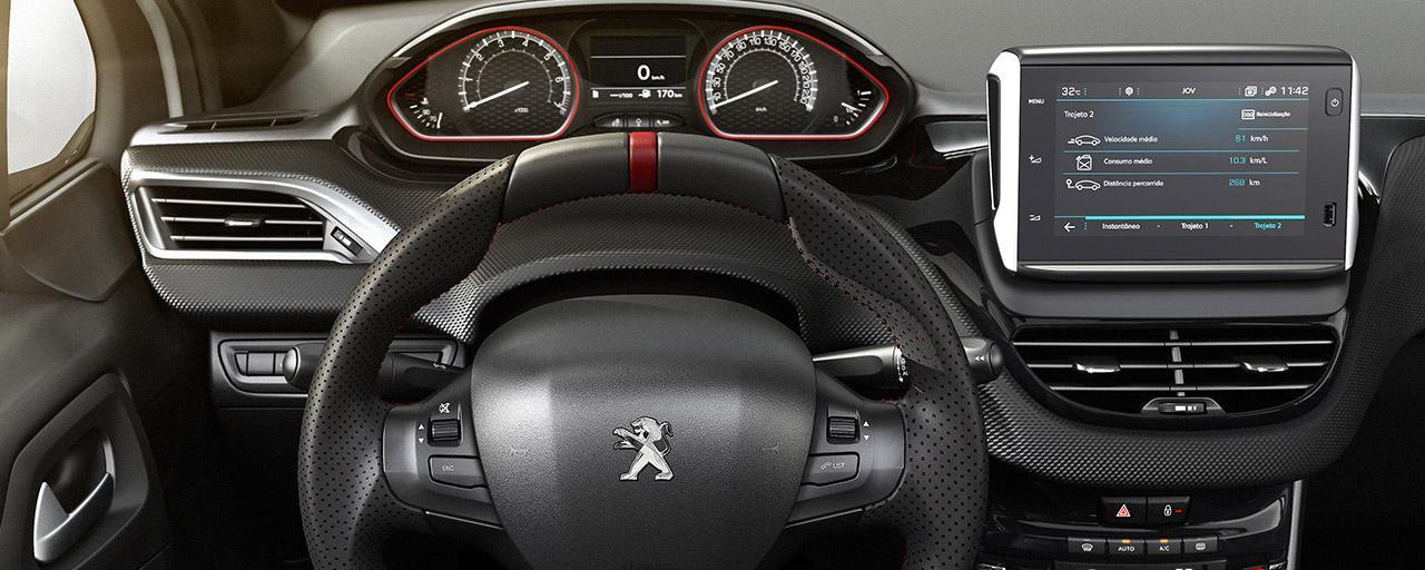 Inteior do Peugeot 208