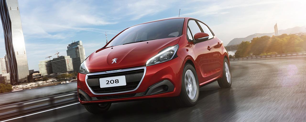 design da dianteira do Peugeot 208