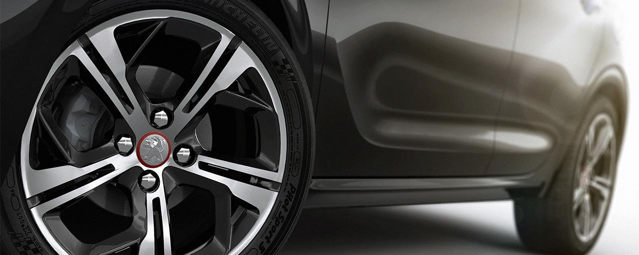 rodas de liga leve do Peugeot 208 GT