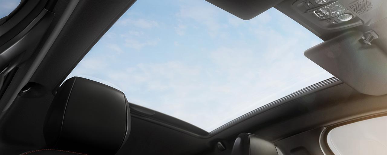 Teto panorâmico do Peugeot 208