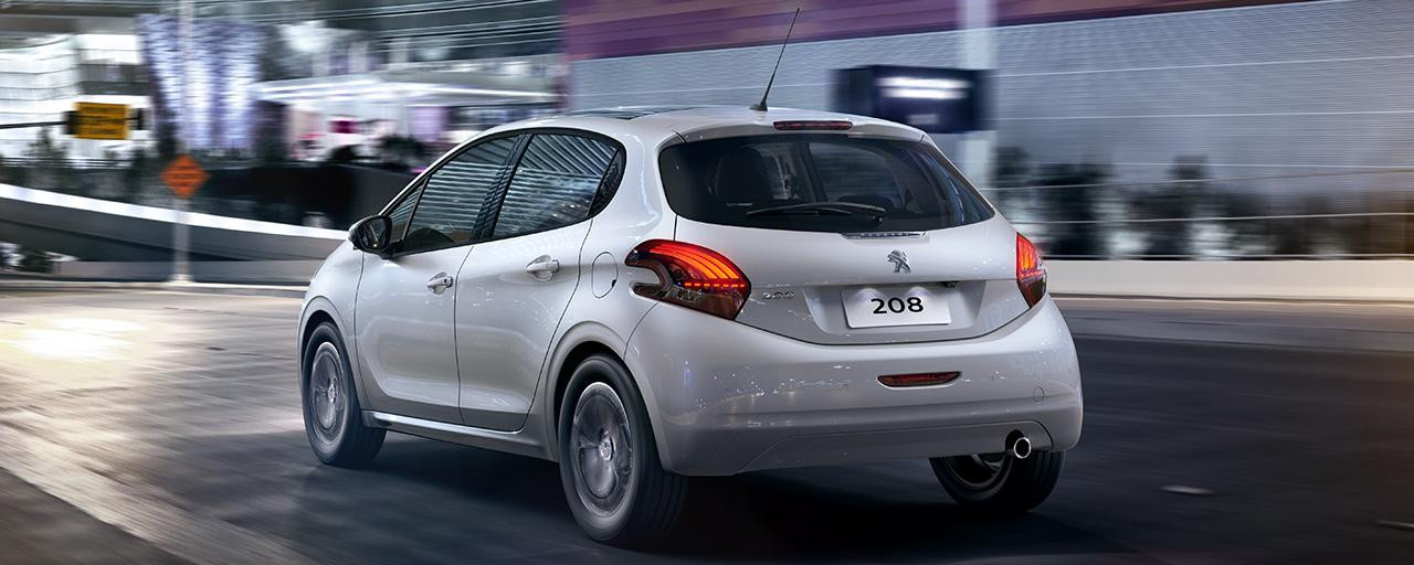 design da traseira do Peugeot 208