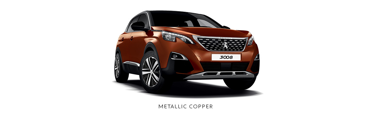 Cores Peugeot 3008 Metallic Copper
