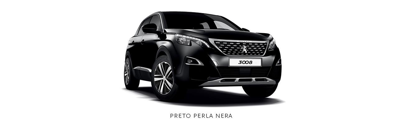 Cores Peugeot 3008 Preto Perla Nera
