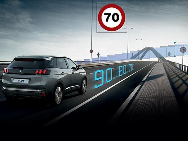 Leitor de sinalização do Peugeot 3008
